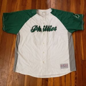 Chase Utley Mens Green Jersey SIZE 2XL mens MLB Ge